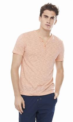 Express - Slub Henley Tee Shirt