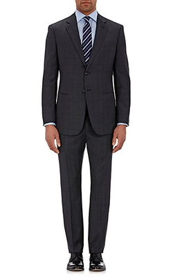 Giorgio Armani  - Plaid Taylor Two-Button Suit