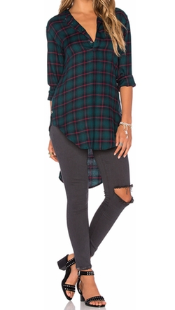 Publish - Nikole Plaid Blouse