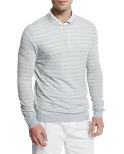 Loro Piana  - Tonal-Stripe Crewneck Sweater