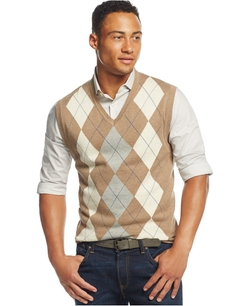 Club Room - Cotton Argyle Vest