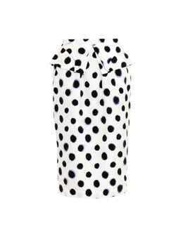Saloni - Anabelle Polka-Dot Textured Skirt