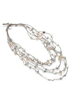 Gillian Julius - Layered Crystal Necklace