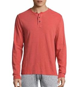 Surfside Supply Co.  - Garment-Dyed Slub Henley Shirt