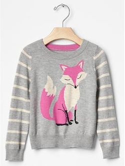 Gap - Intarsia Fox Stripe Sweater