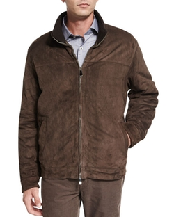 Peter Millar - The Arno Cashmere-Lined Suede Jacket