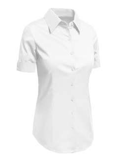 Le3no - Short Sleeve Button Down Shirt