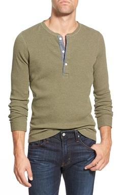 Bonobos - Long Sleeve Waffle Knit Henley Shirt