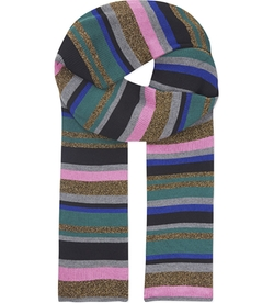 Emilio Pucci - Multi-Coloured Striped Knitted Scarf