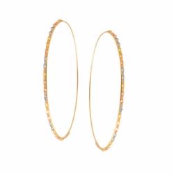Lana  - Glam Large Three-Tone Hoop Earrings