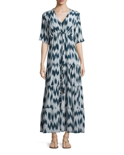 Figue  - Kalila Printed Silk Maxi Dress
