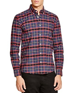 Saturdays Surf NYC  - Crosby Tartan Button Down Shirt
