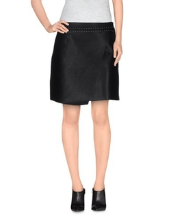 Suncoo - Faux Leather Mini Skirt