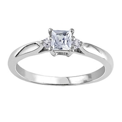 JC Penney - Sapphire & Diamond-Accent Engagement Ring