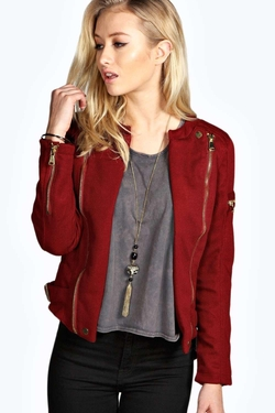 Boohoo Boutique - Zip Detail Biker Jacket