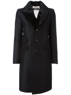 Dsquared2   - Mink Collar Coat