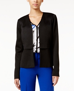 Alfani  - Collarless Open-Front Blazer