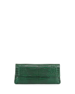 Nancy Gonzalez - Gotham Crocodile Flap Clutch Bag