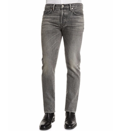 Tom Ford - Straight-Fit Faded Wash Denim Jeans