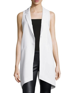 Elizabeth and James - Neema Notched-Lapel Long Vest