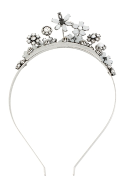 Betsey Johnson - Rhinestone & Flower Tiara