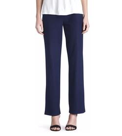 Eileen Fisher - Washable-Crepe Straight-Leg Pants