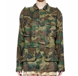Saint Laurent - Button-Front Camo Safari Jacket