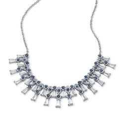 Lux - Cubic Zirconia and Blue Sapphire Necklace