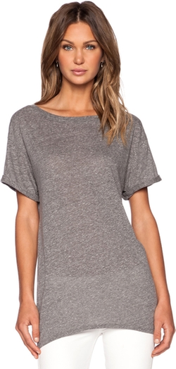 Enza Costa - Twist Jersey Easy Crew Tee