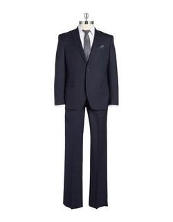 Tallia Orange - Two-Piece Windowpane Suit