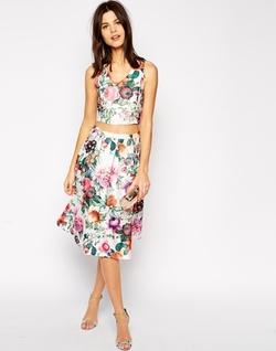 True Decadence  - Botanical Floral Midi Skirt