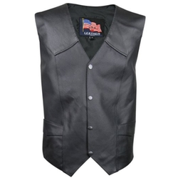 USA Leather - Button Lace Vest