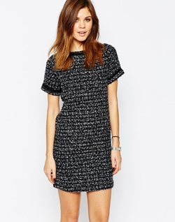 Warehouse - Tweed Shift Dress