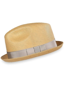 Paul Fredrick - Straw Snap Fedora Hat