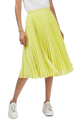 Topshop  - Chiffon Pleated Midi Skirt