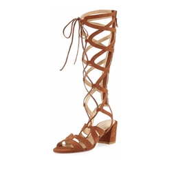 Stuart Weitzman - Grecian Suede Knee-High Gladiator Sandals