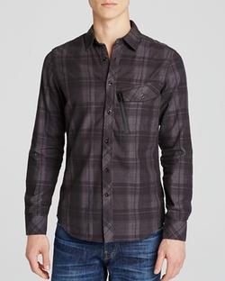 G-Star - Defend Check Regular Fit Button Down Shirt