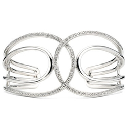 Diamond Addiction - Diamond Scrolled Cuff Bangle