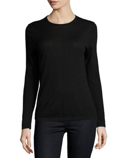 Neiman Marcus Cashmere Collection - Modern Crewneck Sweater