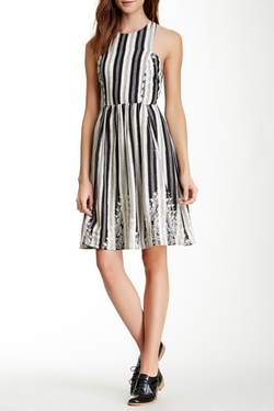 Tracy Reese - Striped Placement Frock Dress