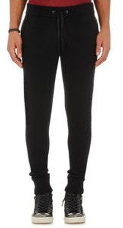 John Varvatos - Leather-Trimmed Jogger Pants