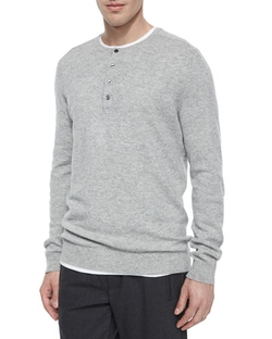 Vince - Cashmere Long-Sleeve Henley Shirt