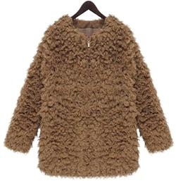Eudora - Faux Fur Zip Coat