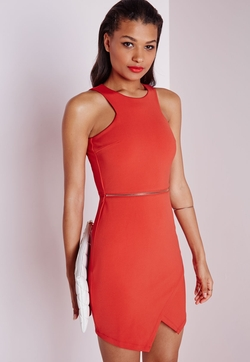 MissGuided - Sleeveless Zip Waist Bodycon Dress