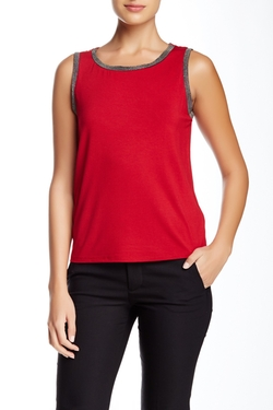 Anne Klein - Embellished Trim Tank Top
