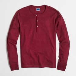 J.Crew - Factory Marled Cotton Henley Shirt
