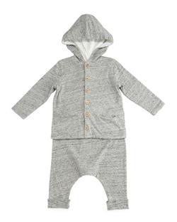 Bonpoint - Slub-Knit Hooded Sweatshirt & Pants
