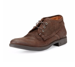 John Varvatos  - Dylan Distressed-Leather Chukka Boots
