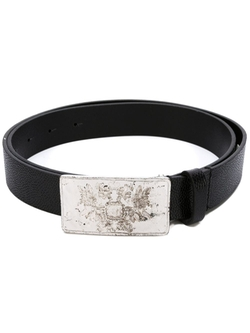 Diesel   - Embossed Buckle Textured Belt