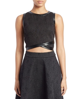 Guess - Crop-Top Scuba Top